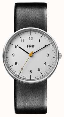 Braun Unisex schwarzes Leder Uhr BN0021BKG