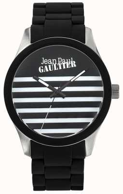 Jean Paul Gaultier Enfants terribles schwarzes Kautschukarmband schwarzes Zifferblatt JP8501121