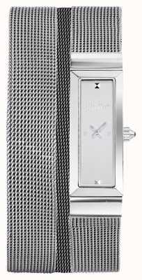 Jean Paul Gaultier Damen Cote de Maille Edelstahl-Mesh-Armband JP8503901