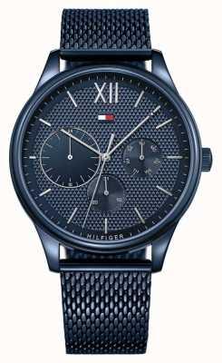 Tommy Hilfiger Blaues Zifferblatt mit Damon-Blau-Mesh-Armband für Herren 1791421