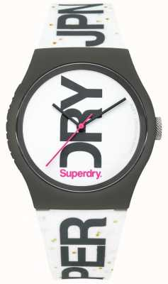 Superdry Unisex weiße Silikon Uhr SYL189WB