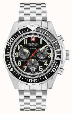 Swiss Military Hanowa Mens Touchdown Chronograph schwarz 06-5304.04.007