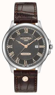 Roamer Windsor braunes Lederarmband 706856410207