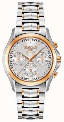 Roamer Womens Searock Chronograph Silber und Roségold 203901491520