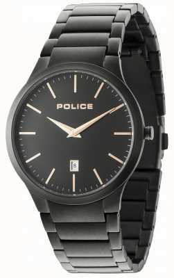 Police Horizon schwarzes Armband schwarzes Zifferblatt 15246JSB/02M