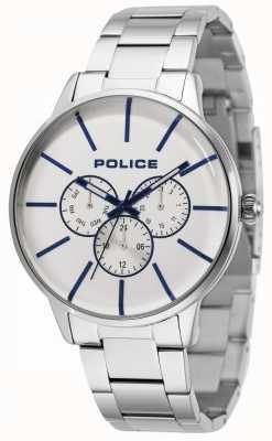 Police Swift Edelstahlarmband mit silbernem Zifferblatt 14999JS/04M