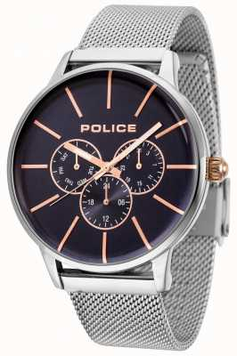 Police Swift Roségold-Armband mit schwarzem Zifferblatt 14999JS/03MM