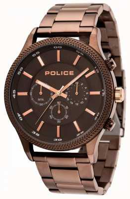 Police Pace braun Armband mit grauem Zifferblatt 15002JSBN/13M