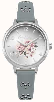 Cath Kidston Lasergeschnittenes florales Armband mit floralem Zifferblatt und silbernem Gehäuse CKL043US