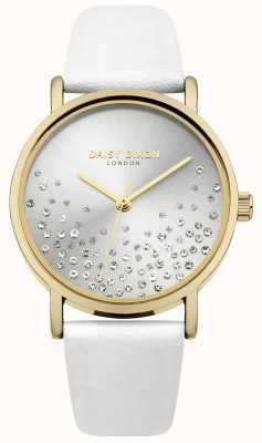 Daisy Dixon Weißes Armband mit Sunray-Zifferblatt Glitzer DD053WG