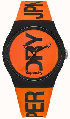 Superdry Orange Zifferblatt orange Silikonband SYG189OB