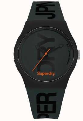 Superdry Stealth-Grün mit schwarzem Textdruck SYG189NB