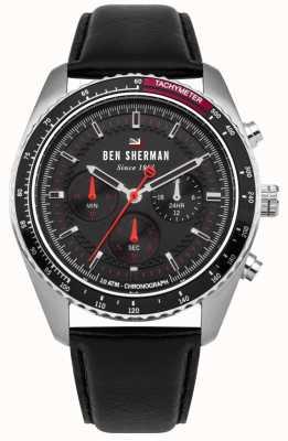 Ben Sherman Das Ronnie Chronograph Sunray Zifferblatt rote Highlights WBS108RB