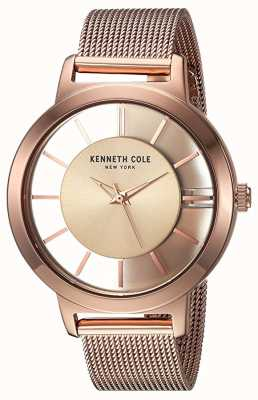 Kenneth Cole Damen New York Quarz Roségold Edelstahlgewebe KC15172002