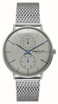 Kenneth Cole New York Quarz grau Zifferblatt Edelstahl-Mesh-Armband KC15188002