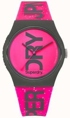 Superdry Hellrosa Armband und Zifferblatt mit urbanem Glitzer für Damen SYL189PP