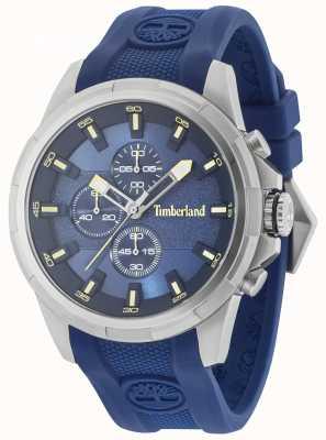 Timberland Boxford blaues Silikonarmband blaues Zifferblatt 15253JS/03P