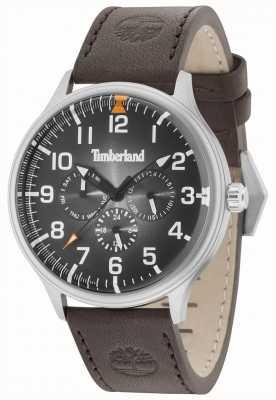 Timberland Blanchard schwarzes Zifferblatt dunkelbraunes Lederarmband 15270JS/02