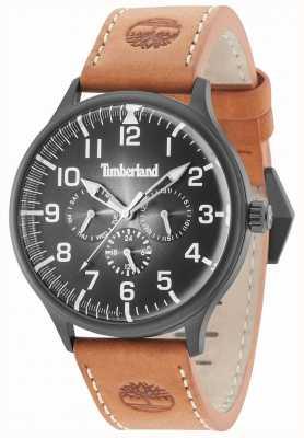 Timberland Blanchard schwarzes Zifferblatt braunes Lederarmband 15270JSB/02