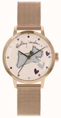 Radley Love Lane Edelstahl Roségold Gehäuse Mesh Armband RY4324