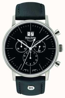 Bruno Sohnle Stuttgart Chronograph 42mm Quarz Edelstahl schwarzes Zifferblatt 17-13177-741