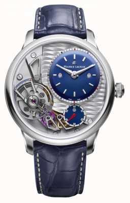 Maurice Lacroix Meisterwerk Schwerkraft 25 Jahre blaues Lederband MP6118-SS001-434-1