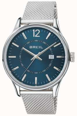 Breil Contempo Edelstahl blaues Zifferblatt Mesh-Armband TW1560