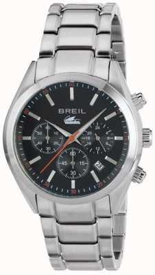 Breil Manta City Edelstahl Chronograph schwarzes Zifferblatt Armband TW1606