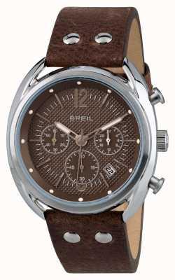 Breil Beaubourg Edelstahl Chronograph mattes braunes Zifferblatt TW1663