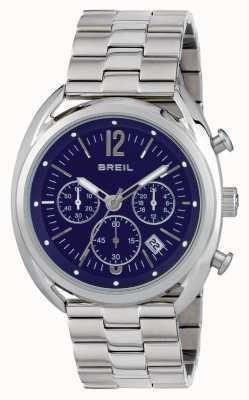 Breil Beaubourg Edelstahl Chronograph blaues Zifferblatt TW1665