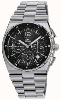 Breil Manta Sport Edelstahl Chronograph schwarzes Zifferblatt Armband TW1639