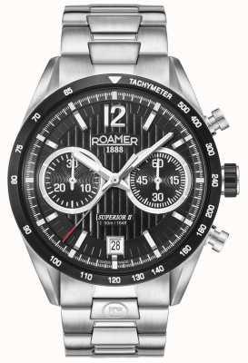 Roamer Mens Superior Chrono II Silber Armbanduhr 510902415450