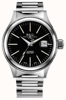 Ball Watch Company Feuerwehrmann Automatik 40mm vergrößertes Datum schwarzes Zifferblatt NM2188C-S5J-BK