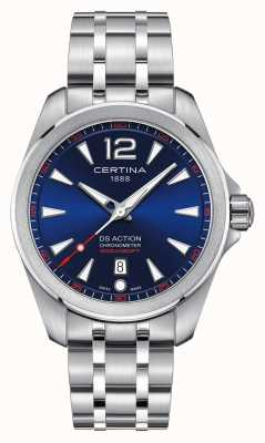 Certina Mens ds action blau Zifferblatt Uhr C0328511104700