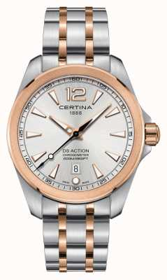 Certina Herren ds action chronometer uhr | Edelstahlarmband | C0328512203700
