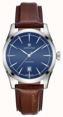 Hamilton Mens Geist der Freiheit automatische blaue Zifferblatt Uhr H42415541