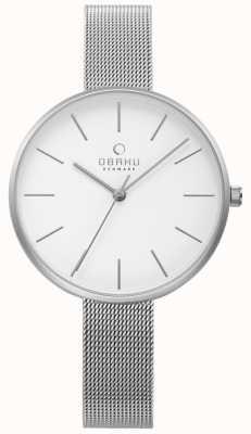 Obaku Womens Viol Uhr Silber Stahlgitter Armband V211LXCIMC