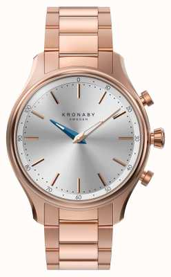 Kronaby 38mm sekel bluetooth roségold metall armband smartwatch A1000-2747