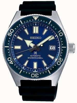 Seiko Prospex Sea Blue Zifferblatt blaue Lünette verschraubte Krone SPB053J1