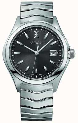 EBEL Herren Welle Edelstahl Armband grau Zifferblatt 1216239