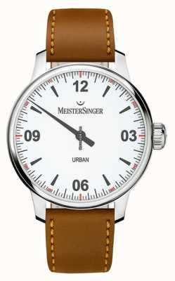 MeisterSinger Urban weißes Zifferblatt Opalinsilber UR901