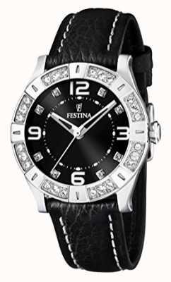 Festina Damenuhr schwarzes Armband F16537/2