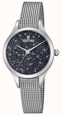 Festina Damenuhr mit Swarovski-Kristallen Mesh-Armband F20336/3