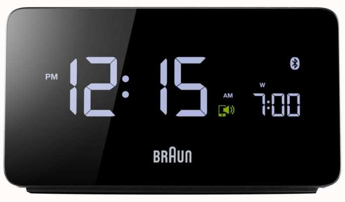 Braun Ex-Anzeige digitaler Bluetooth-Wecker BNC020BK EX DISPLAY