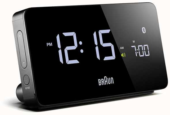 Braun Digitaler Bluetooth-Wecker schwarz BNC020BK