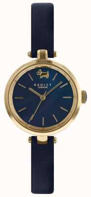 Radley Damen 28mm Gehäuse Navy Zifferblatt Tinte Lederband RY2656