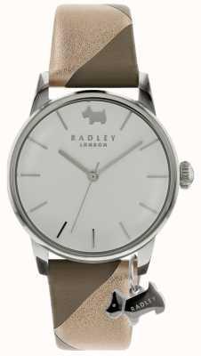 Radley Damen Silber 35mm Gehäuse Silber / Weiß Zifferblatt Silber Hund Charm RY2647