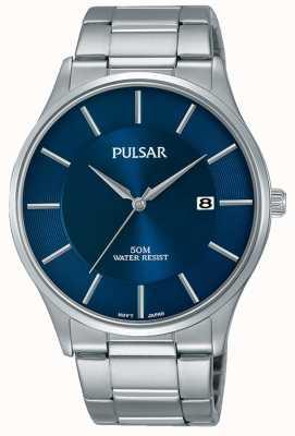 Pulsar Edelstahl blau Zifferblatt Datumsanzeige PS9541X1