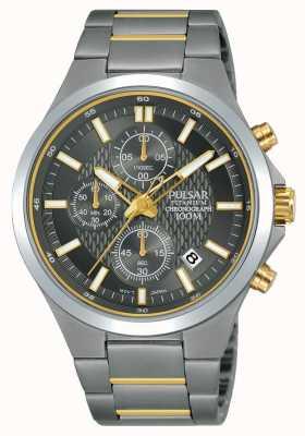 Pulsar Titan Chronograph zweifarbiges Armband PM3113X1