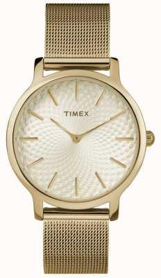 Timex 34mm Gold Mesh Armband / Gold Zifferblatt TW2R36100